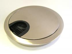 Desk Grommet Metal Stainless Steel Round Ø 80